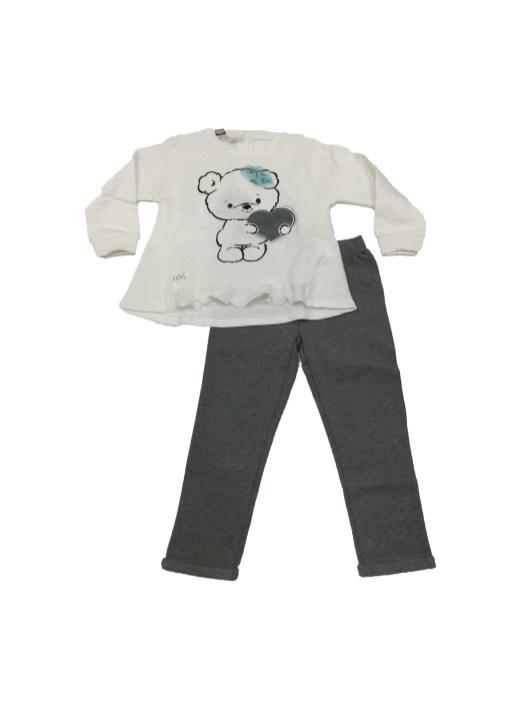 Conjunto pantalón y sudadera oso bebé IDO