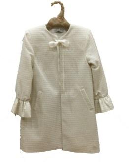 Eve Children abrigo rayas crudo con plata