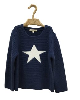 Mía y Lía jersey niña estrella azul
