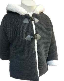 Foque abrigo punto gris marengo detalle