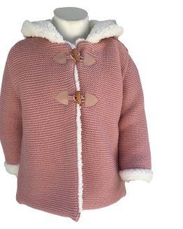 Foque abrigo rosa punto detalle