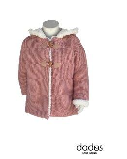 Foque abrigo rosa punto