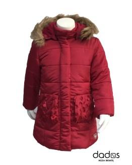 Dolce Petit abrigo rojo acolchado