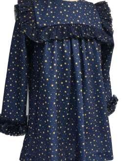 Detalle Mon Petit Bonbon vestido estampado estrellas