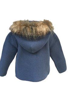 Sigar chaqueta con capucha pelo detalle capucha