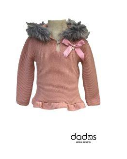 Sigar jersey pelo rosa empolvado