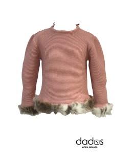 Sigar jersey niña pelo rosa empolvado