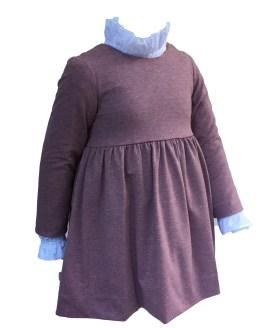 Ancar vestido berenjena detalle