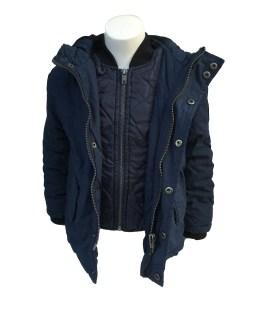 Petrol chaquetón azul marino detalle