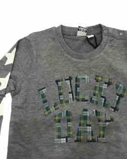 IDO camiseta gris manga larga