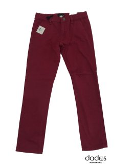 IDO pantalón de loneta granate