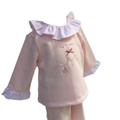 Coco Acqua chandal bebé niña rosa detalle