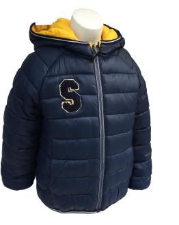 IDO chaquetón acolchado reversible parte azul