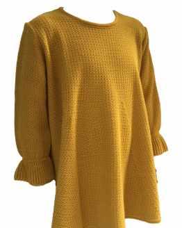 Bamboline colección Nayade vestido mostaza