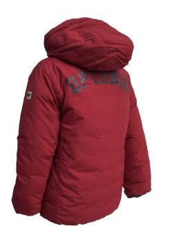 Espalda IDO chaquetón acolchado granate