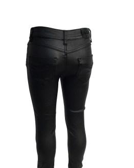 Fun&Fun pantalón negro encerado detalle
