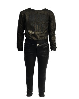 Conjunto Fun&Fun pantalón negro encerado