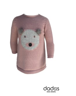 Floc Baby vestido rosa oso