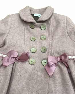 Outlet Dolce Petit abrigo paño rosa