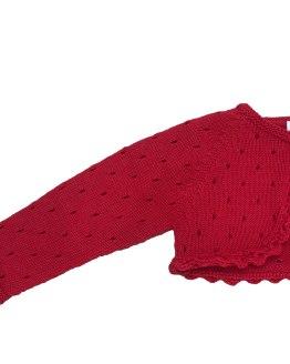 Marta y Paula chaqueta torera roja detalle