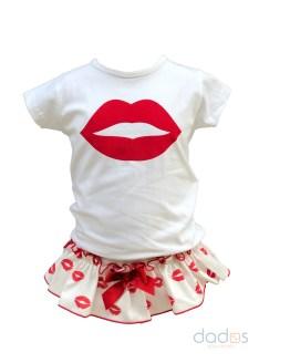 Mon Petit Bonbon conjunto labios cubre y camiseta