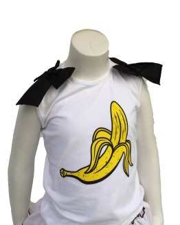 Detalle Mon Petit Bonbon conjunto plátano