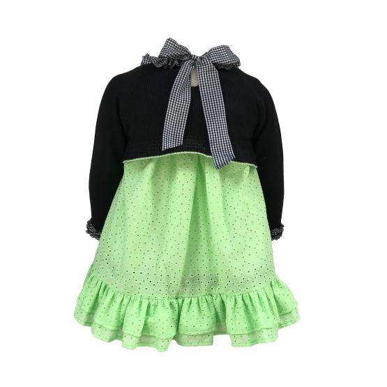 Espalda Lolittos colección neón vestido y jersey corto