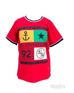 IDO camiseta roja ancla