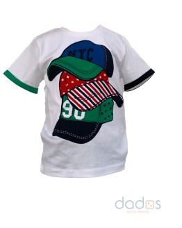 IDO camiseta blanca gorras