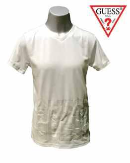 GUESS camiseta niño blanca con letras en relieve