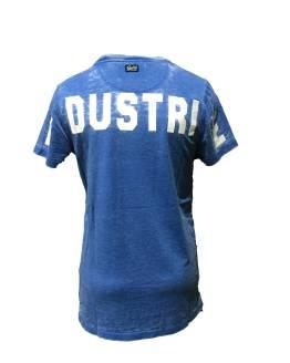 PETROL camiseta letras azul espalda