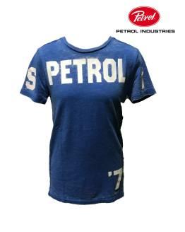 PETROL camiseta letras azul