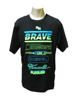 DIESEL camiseta brave negra