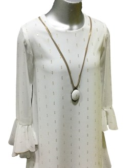 BELLA BIMBA colección Yasira vestido con collar detalle