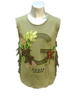 GUESS camiseta chica con flecos varios colores