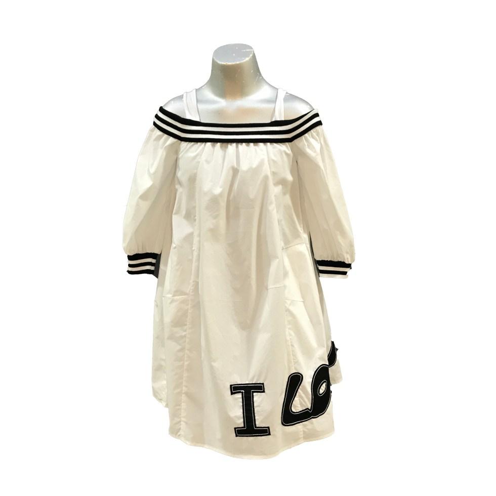 MONNALISA vestido Love blanco