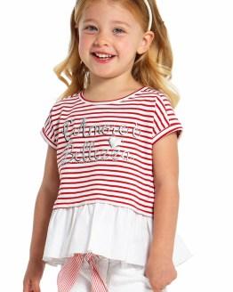 IDO camiseta niña rayas rojo y blanco catálogo