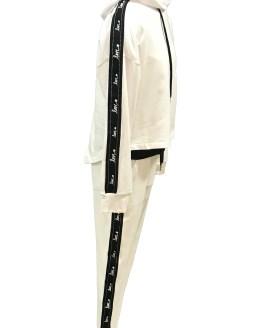 Lateral Elsy pantalón felpa con raya negra lateral