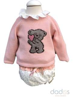 Marta y Paula colección Cuco rana, blusa y jersey oso