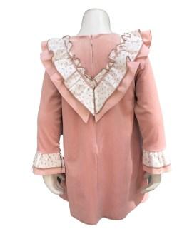 espalda Marta y Paula colección Cuco vestido rosa