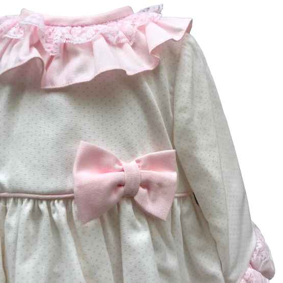Dolce Petit jesusito blanco y rosa con lazo detalle
