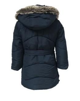 Espalda Dolce Petit abrigo acolchado azul marino