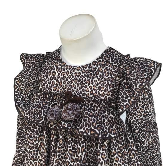 Detalle Para Sofía colección Isabelle vestido estampado animal