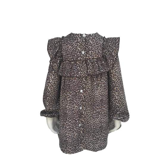 Espalda Para Sofía colección Isabelle vestido estampado animal