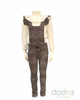 Para Sofía colección Isabelle mono y blusa estampado animal