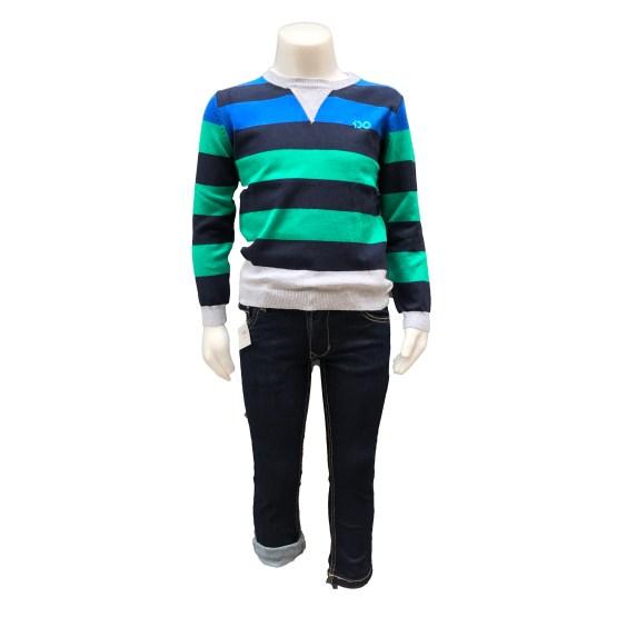 Look con IDO jersey niño rayas de punto