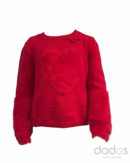 IDO jersey niña corazón rojo