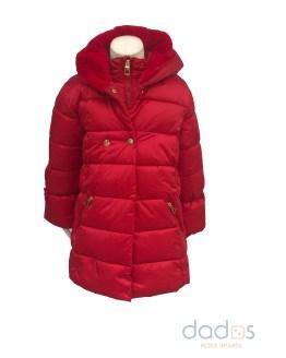 IDO abrigo acolchado rojo niña