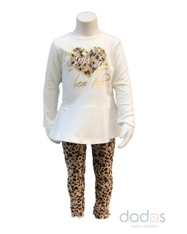 IDO conjunto camiseta y legging animal print