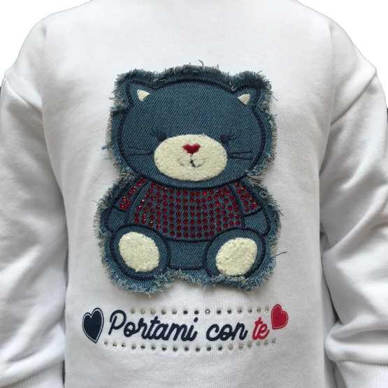Detalle IDO conjunto bebé legging y sudadera oso